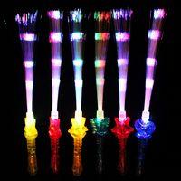 Led 빛 스틱 전자 변경 플래시 광섬유 막대 보컬 콘서트 파티 광선 스틱 다른 색상으로 높은 품질 1 8yg J1