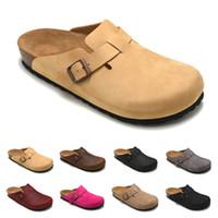 Vendita calda-Boston 2019 nuova borsa in pelle testa pull pantofole in sughero donna maschio estate pantofole antiscivolo scarpe pigre amanti scarpe da spiaggia Scuff