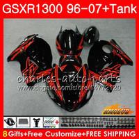 SUZUKI GSXR-1300 GSXR1300 kırmızı siyah sıcak Için Kiti Hayabusa 96 97 98 99 00 01 07 24HC.87 GSXR 1300 1996 1997 1998 1999 2000 2001 2007