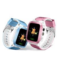 Y21S GPS Crianças relógio inteligente Anti-Lost Lanterna do bebê inteligente Relógio de pulso SOS Chamada Localização dispositivo rastreador Kid Seguro Pulseira vs DZ09 relógio inteligente