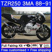 Body For YAMAHA TZR250RR RS RR YPVS TZR250 88 89 90 91 244HM.24 TZR-250 TZR250 3MA TZR 250 Black west stock 1988 1989 1990 1991 Fairing kit