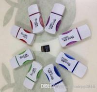 Бесплатная доставка, 200 шт. / Лот, отличное качество USB2.0 Panda Card Reader T-Flash Card Reader, Micro SD-карточный читатель, адаптер