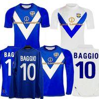 Retro Klasik 2003 2004 Brescia Uzun Kollu Futbol Formaları Baggio 03/04 Ev Uzaktan Futbol Tam Gömlek