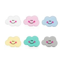 Funny Smile Cloud Teether Silicone Teething Beads Food Grade...