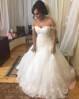 우아한 오프 어깨 Mermaid 웨딩 드레스 파란색 된 레이스와 함께 Appliqued 국가 Weding LAce 신부 드레스 사용자 정의 MAde