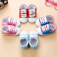 4 Color Baby Girls Shoes Newborn Infant Baby Girls Crib Band...