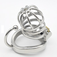 Chastity Sex Toy Stainless Steel Male Chastity Small Cage wi...