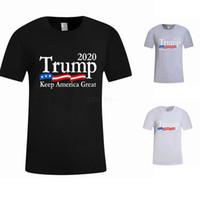 Homens Donald Trump T-shirt 2020 O-Neck manga curta bandeira dos EUA Mantenha-americano Grande carta Tops Camiseta LJJA2661-33
