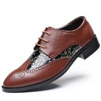 Baoluma 2018 Nouvelle Vente De Mode Pu En Cuir Casual Hommes Chaussures Hommes Appartements Noir Chaussure Formelle Pour Homme Robe Chaussures