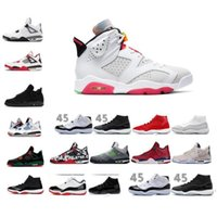 6 6s Hare 11S Bred Metallic Silver Space Jam Concord Gym Red 4S Bred Chaussures de basket-ball de gros 2020 6s infrarouge noir