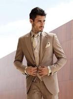 Nuovo design elegante One Button Smoking dello sposo Peak Groommen bavero Best Man Abiti Uomo Abiti da sposa (Giacca + Pantaloni + Vest + Tie) 911