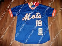 cheap custom NEW NY DARRYL STRAWBERRY BASEBALL JERSEY Stitch...