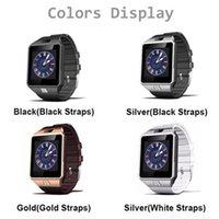 Original DZ09 relógio inteligente Bluetooth Wearable Devices Sports Suporte Pulseira entregas chamada Com SIM TF Slot de pulso iPhone Android Para