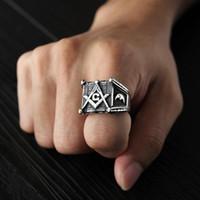 Vintage Black Titanium in acciaio inox anelli anelli hip hop gratis muratura punk retrò argento colore roccia maschio anello gioielli freschi