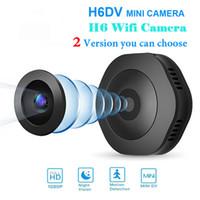 H6 DV / WIFI كاميرا مايكرو كاميرا ليلة الكاميرا مصغرة عمل كاميرا مع استشعار الحركة كاميرا فيديو مسجل فيديو صوتي كاميرا صغيرة حار بيع
