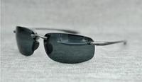 Markendesigner Mcy Jim 407 Sonnenbrillen Hochwertige polarisierte randlose Linse Männer Frauen fahren Sonnenbrillen mit Etui
