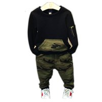 Boys Clothes 2019 Spring Autumn Kids Clothing Camouflage Lon...