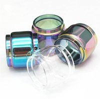 200 sztuk autentyczny tłuszcz tęcza wymiana szkła szklana do Eleaf Ello 4ml / IJust Nexgen 5ML Zestaw Atomizer Tank Rainbow Color Glass Tube DHL