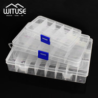 Practical Adjustable 10 15 24 Compartment Plastic Storage Bo...