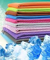 Asciugamano freddo freddo 88 * 33cm Raffreddamento Summer Sunstroke Sports Exercise Cool Asciugamano rinfrescante morbido e traspirante