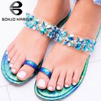 BONJOMARISA New Dropship PVC Flat Gladiator Sandals Women 20...