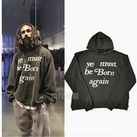 Mens Hoodies CPFM Ye Must Be Born Again Pullover mit Kapuze Strickjacke High Street Fashion lose Sweatshirt