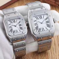 Luxe Nouveau Quartz En Acier Inoxydable Business Fashion Mesdames Femmes Haute Solde Glass Watch Mens Montres Sports Montre-bracelet