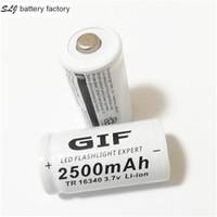 batteria al litio / 16340 2500mAh 3.7V pile ricaricabili CR123A GIF alta qualità di trasporto Blower batteria libero