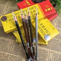 Em estoque! Multi-cor da linha puxar lápis Atacado sobrancelha com lápis de sobrancelha linha de tração 1818 impermeável linha puxar sobrancelha.