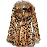 2019 플러스 사이즈 S ~ 6XL 여성 모직 코트 모피 코트 모직 코트 짙은 따뜻한 표범 무늬 밍크 트렌치 코트 Faux 모피 재킷 653