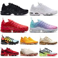 Top nike air vapormax 2019 Tn plus Hornets Cuscini Mens degli addestratori delle donne Free Shoes Sliver Uva Triple Black White Shark Womens Sport Sneakers