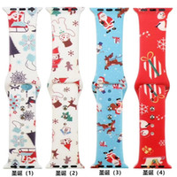 2020 Floral Print Silicone Bands For Apple watch Series 4 3 ...