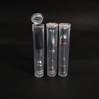 Vendita calda Childproof PC tubo di imballaggio per bobina ceramica Cartucce estratto imballaggio del tubo olio Vape vaporizzatore wickless Atomizer plastica trasparente