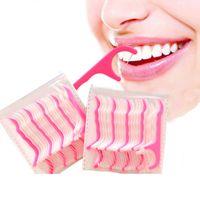 도구 구강 이쑤시개 면사 스틱을 청소 일회용 치실 스틱 위생 환경 친화적 인 플라스틱 치아