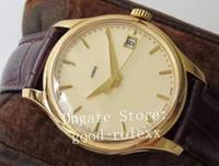 Oro 39mm lujo de los hombres de ZF automática de fábrica 5227 reloj SC Cal.324 los relojes del movimiento de los hombres del cuero del becerro Calatrava Band Eta pulsera de cristal