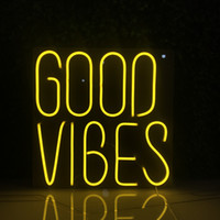 Good vibes decoration size 50x50cm multi color custom neon s...