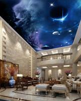 Foto de cualquier tamaño personalizada techos personalizados techo estrellado mural 3d murales de techo papel tapiz