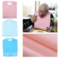 Waterproof Adult Mealtime Bib Elder Men Women Wearable Dinne...