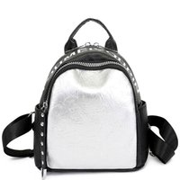Hot Letter Backpack For Women Youth Leather Backpacks For Te...