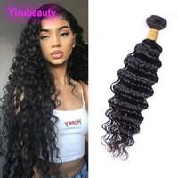 Brasilianische Jungfrau-Haar-tiefe Wellen-One Bundle Menschenhaar-Verlängerungen 8-28inch Tiefe Welle Curly Bundles Natural Black Brazilian Kambodscha Haar