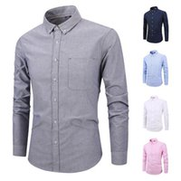 Mens Dress Shirts New Style Male Long Sleeve Cotton Blend Sh...