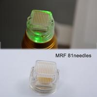Microneedles Tips frazionario RF microneedle per la macchina del sollevamento della pelle viso Aghi placcati dorati 25 49 81 64 Punta