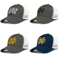 Нотр-Дам борьбе ирландского футбол логотип Золотой темно-синий для мужчин и женщин дальнобойщик бейсболки прохладный дизайнер ик сетка шляпы