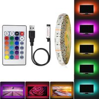 LED RGB bande USB étanche 5V Ruban Led RVB Stripe / Blanc / Blanc chaud TV Rétro-éclairage 1M 2M 3M 4M 5M SMD3528 Flexible Led Lights bande