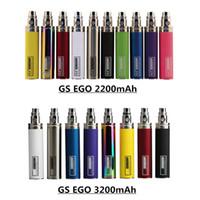 Оригинал GS Ego III 3200mAh II 2200mAh KGO Одна неделя Аккумулятор E сигареты Evod Twist Видения Spinner для Vape 510 T3S MT3 Форсунки Pen Kit