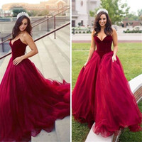 New 2020 Burgundy Sweetheart Sleeveless Lace Up Ball Gown Or...