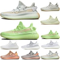 Hot Cheap Kanye West Clay V2 statico riflettente GID Glow In The Dark Mens scarpe da corsa Hyperspace True Form Women Sports Designer Sneakers