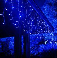 16 * 0.8m Fairy Light Wasserdichte 24V sichere Spannung LED-Vorhang Eiszapfen-Schnur-Licht für das neue Jahr Weihnachtsfest-Garten Inneneinrichtungen mit 8 Modi