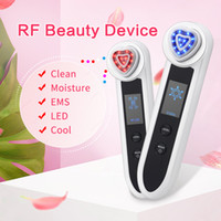 KONMISON LED الفوتون العلاج ترددات الراديو RF الوجه آلة الجمال EMS RF رفع ايون تطهير الاهتزاز العين مساج الوجه