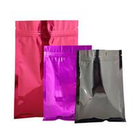 16 * 24cm der neuen Art-100pcs Farbige Aliminum Folie Zip-Verschluss-Beutel Self Sealing Bunte matellic Mylar Folie Reißverschluss-Paket-Beutel für Games